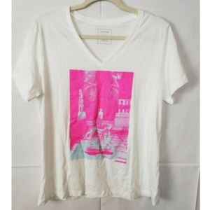 Converse Graphic V-Neck T-Shirt Tee